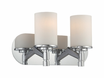 Lite Source LS-16312 Lina Modern Chrome 2-Light Bathroom Lighting