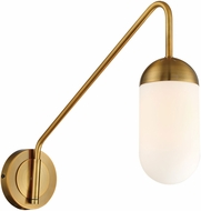 Lite Source LS-16340AB Firefly Modern Aged Bronze Wall Swing Arm Lamp