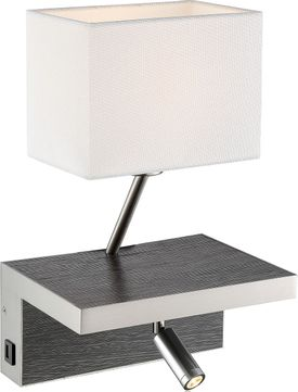 Lite Source LS-16457CHARC Sandy Modern Charcoal LED Wall Sconce