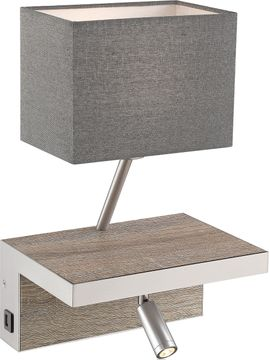 Lite Source LS-16457WOOD Sandy Contemporary Wood LED Wall Lamp