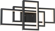 Lite Source LS-16518BLK Pankler Contemporary Black LED Sconce Lighting
