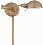Lite Source LS-16753AB Rizzo Modern Aged Bronze Wall Swing Arm Lamp