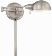 Lite Source LS-16753PS Rizzo Contemporary Polished Steel Fluorescent Swing Arm Wall Lamp