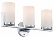 Lite Source LS-16813 Caesarea Contemporary Chrome 3-Light lighting for bathroom