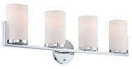 Lite Source LS-16814 Caesarea Modern Chrome 4-Light bath lighting