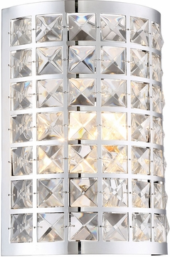 Lite Source LS-16822 Damond Chrome Sconce Lighting