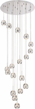 Lite Source LS-18198 Chrome LED Multi Pendant Lighting Fixture