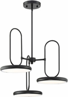 Lite Source LS-18278BLK Sailee Modern Black LED Flush Ceiling Light Fixture