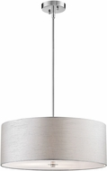 Lite Source LS-18571C-SIL Silvain Chrome Drum Pendant Lighting