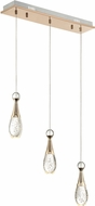 Lite Source LS-18756 Glain Contemporary Champagne Gold LED Multi Drop Ceiling Light Fixture