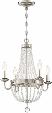 Lite Source LS-18838 Palila Brushed Nickel Mini Lighting Chandelier