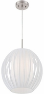 Lite Source LS-18870PSWHT Deion Polished Steel Pendant Light