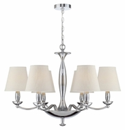 Lite Source LS-18996C Althea Transitional 6 Lamp Chrome Hanging Chandelier