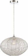 Lite Source LS-18997 Faviola Contemporary Chrome 15  Pendant Lighting