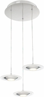 Lite Source LS-19043 Contemporary Chrome LED Multi Drop Lighting