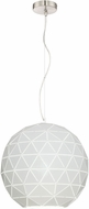 Lite Source LS-19132 Pandora Modern Brushed Nickel Lighting Pendant