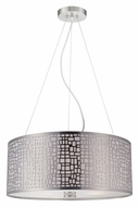 Lite Source LS-19174PS Torre 20 Inch Diameter Polished Steel Modern Drum Pendant Lighting