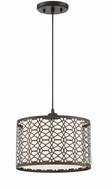 Lite Source LS-19215 Julia Modern Dark Bronze Drum Hanging Lamp
