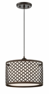 Lite Source LS-19216 Jules Contemporary Black Drum Hanging Light