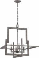 Lite Source LS-19255 Mireya Modern Antique Silver Finish 145  Tall Chandelier