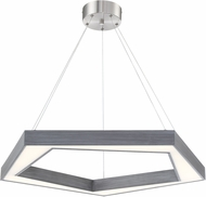 Lite Source LS-19370 Pentex Contemporary Charcoal Grey LED Hanging Pendant Light