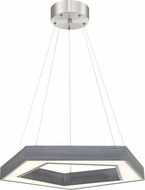 Lite Source LS-19371 Pentex Modern Charcoal Grey LED Pendant Hanging Light
