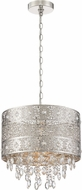 Lite Source LS-19494 Masura Modern Polished Nickel Drum Drop Lighting
