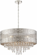 Lite Source LS-19495 Masura Contemporary Polished Nickel Drum Drop Ceiling Lighting