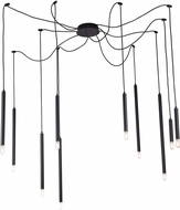 Lite Source LS-19510 Canberra Contemporary Black LED Multi Ceiling Light Pendant