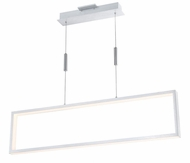 Lite Source LS-19513ALU Pankler Modern Aluminum LED Kitchen Island Light