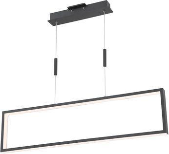 Lite Source LS-19513BLK Pankler Contemporary Black LED Island Light Fixture