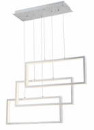 Lite Source LS-19514ALU Pankler Modern Aluminum LED Multi Ceiling Pendant Light