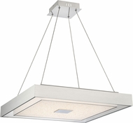 Lite Source LS-19516DIAMOND Halona Contemporary Chrome LED Hanging Light
