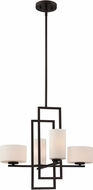Lite Source LS-19525 Adalyn Contemporary Dark Bronze Halogen Mini Chandelier Lamp