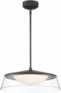 Lite Source LS-19548WALNUT Noor Contemporary Walnut LED Pendant Light