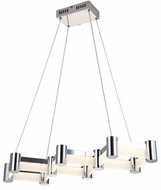 Lite Source LS-19551 Kellen Contemporary Chrome LED Multi Pendant Lamp