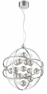 Lite Source LS-19579 Marilyn Modern Chrome LED Foyer Light Fixture