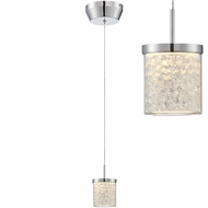 Lite Source LS-19581 Kristen Chrome LED Mini Pendant Lighting Fixture