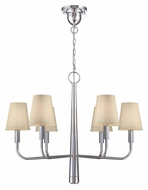 Lite Source LS-19636 Marquise Modern 5 Lamp Chrome Chandelier Light With Downlight