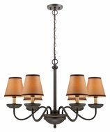 Lite Source LS-19656 Marysa Dark Bronze 32 Inch Diameter 6 Lamp Chandelier Light