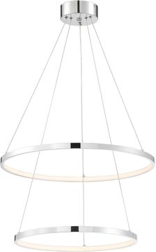 Lite Source LS-19695C Rimmy Modern Chrome LED Multi Pendant Light Fixture