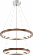 Lite Source LS-19695WAL-BN Rimmy Contemporary Walnut LED Multi Pendant Lighting Fixture