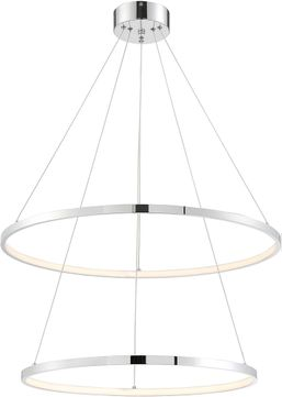 Lite Source LS-19696C Rimmy Modern Chrome LED Multi Hanging Pendant Lighting