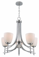 Lite Source LS-19757 Cade Modern Polished Steel Finish 76  Tall Mini Lighting Chandelier
