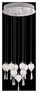 Lite Source LS-19767 Lucinda Contemporary Chrome Finish 23.5  Wide Halogen Mini Chandelier Light