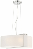 Lite Source LS-19866 Rogina Contemporary Polished Steel Pendant Lighting