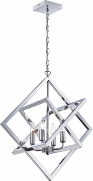 Lite Source LS-19889 Isidro Contemporary Chrome Lighting Pendant