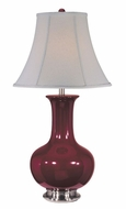 Lite Source LS-21325BURG Belicia Polished Steel Table Lamp