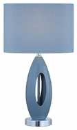 Lite Source LS-21860L-BLU Nakia I Light Blue 19.5  Tall Bed Lamp