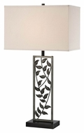 Lite Source LS-21954 Folha Rustic Antique Silver & Bronze Table Top Lamp - 31 Inches Tall